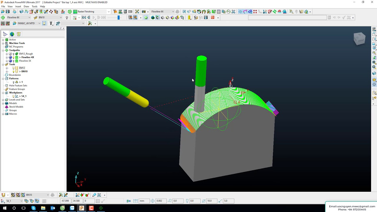 Create Post Processor 4 Axis-Table PowerMill 2017