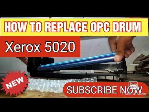 HOW TO REPLACE OPC DRUM IN XEROX 5020 PHOTOCOPIER #xerox #repair #techsolution #howto