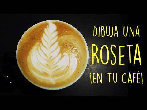 Como Dibujar Una Roseta En Tu Cafe - Curso Arte Latte