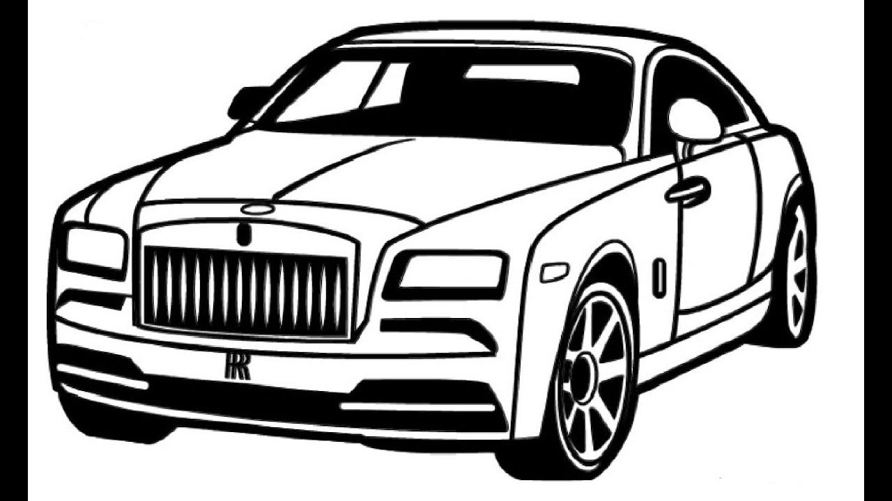 How to Draw a Rolls-Royce / Как нарисовать Rolls-Royce ...