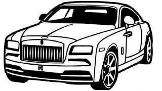 How to Draw a Rolls-Royce / Как нарисовать Rolls-Royce