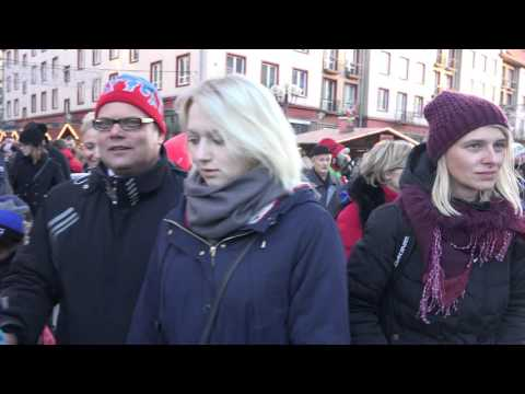 CHRISTMAS MARKET  2015 in Wroclaw, Poland in 4k, part 4