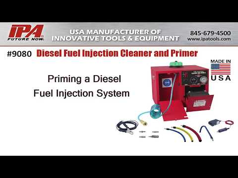 IPA Tools 9080 Diesel Fuel Injection Cleaner And Primer: Priming A Diesel Fuel Injection System