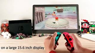 The Way to Play your Nintendo Switch on a Larger Screen on the Go 1503E Portable Monitor|GeChic