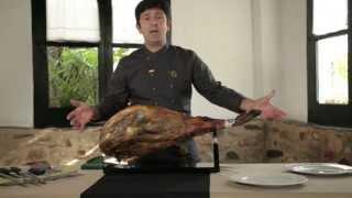 How to slice a Ciฑco Jotas Iberico Ham
