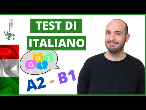 ITALIAN TEST - level A2   Learn and practice Italian with Francesco (ITALIAN subtitles)