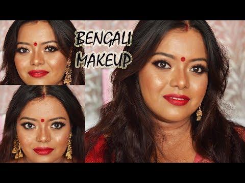 Durga Puja Makeup 2018 | Traditional Bengali Look #durgapuja