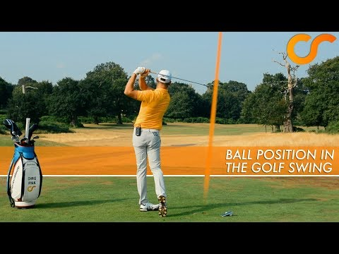BALL POSITION IN THE GOLF SWING