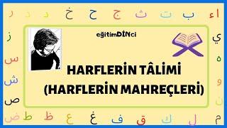 Kuran-ı Kerim Harf Tâlimi  Harflerin Mahreçleri  Harflerin Çıkış Yerleri