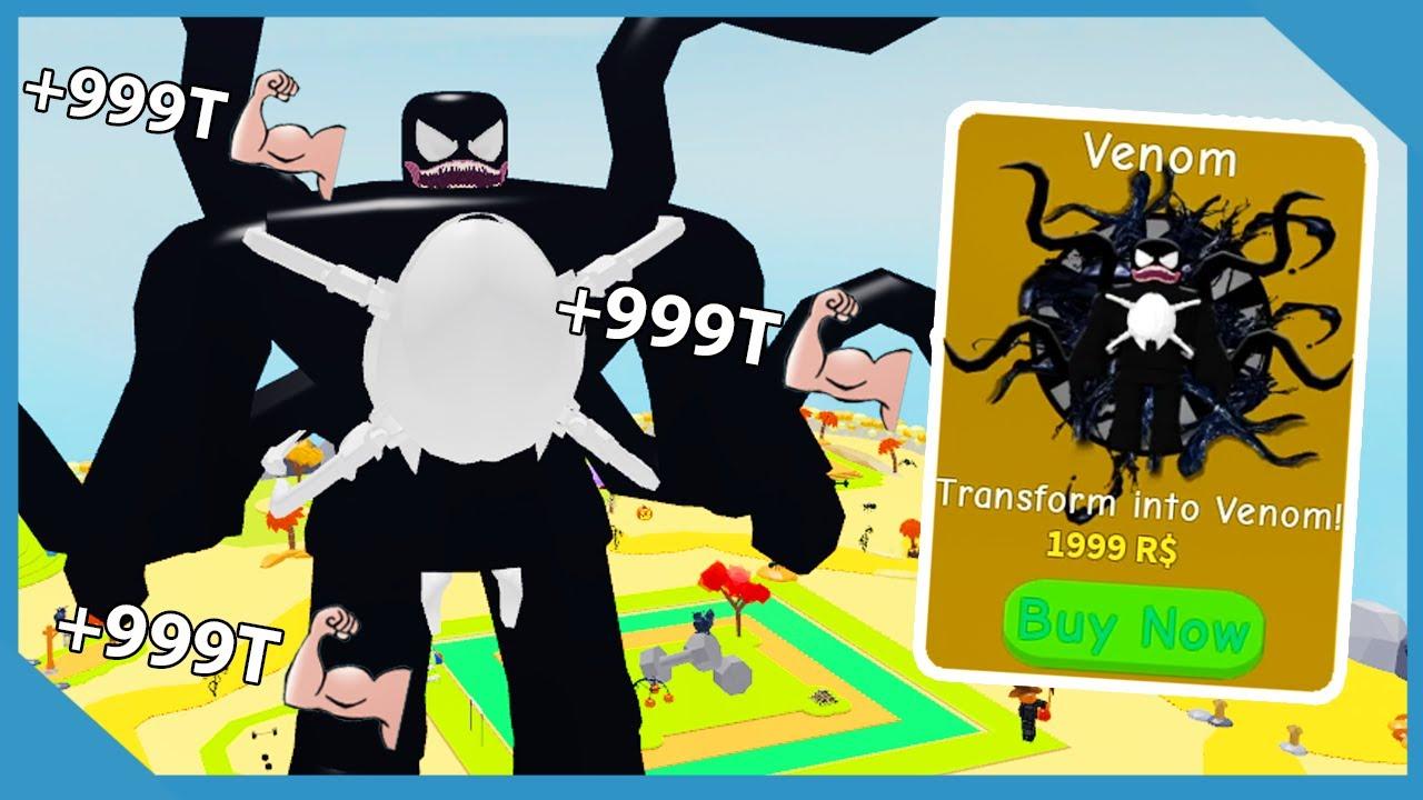 I Unlocked Venom Transformation Max Size Muscles Roblox Lifting Simulator Youtube