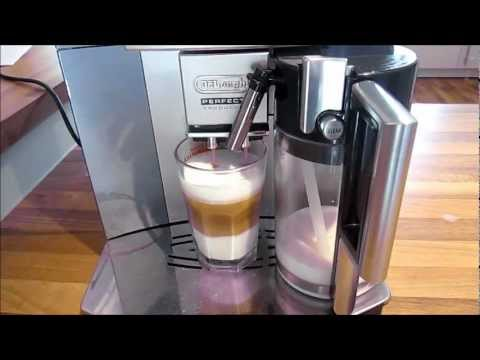 delonghi esam 5500 kaffeevollautomat cafe latte test deutsch youtube. Black Bedroom Furniture Sets. Home Design Ideas