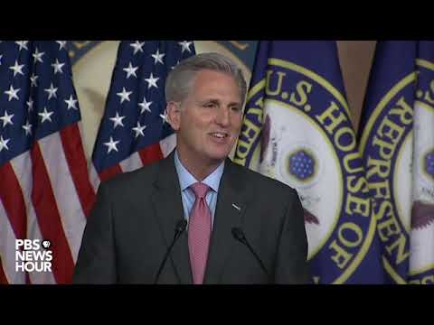 WATCH LIVE: House Minority Leader McCarthy holds news conference on coronavirus aid package