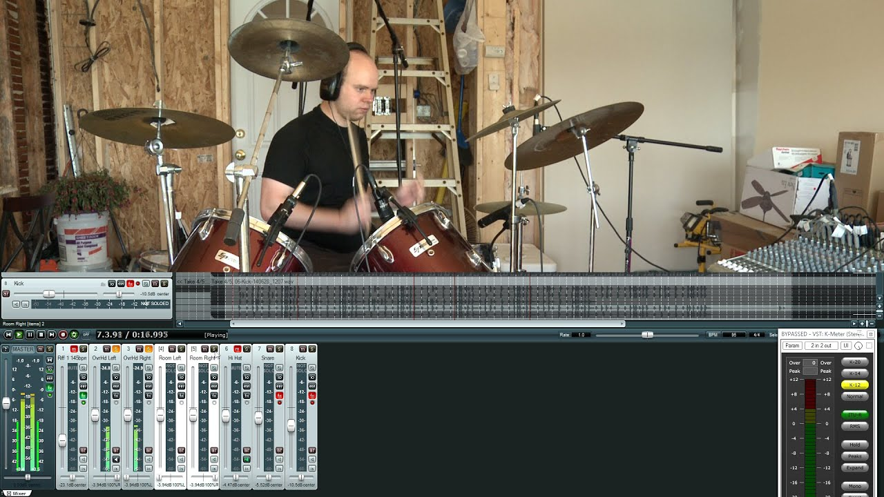 How to Record Drums in a Real Home Studio - Part 2 of 2