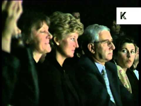 Diana, Princess of Wales at 1995 London Fashion Week, Archive Footage