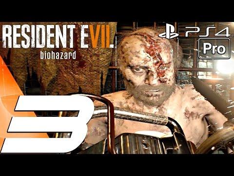 Resident Evil 7 - Gameplay Walkthrough Part 3 - Jack Baker Boss Fight Chainsaw (PS4 PRO)