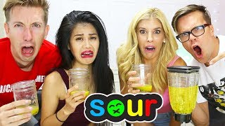 SOUREST DRINK IN THE WORLD COUPLES VS. COUPLES CHALLENGE! (DAY 197)