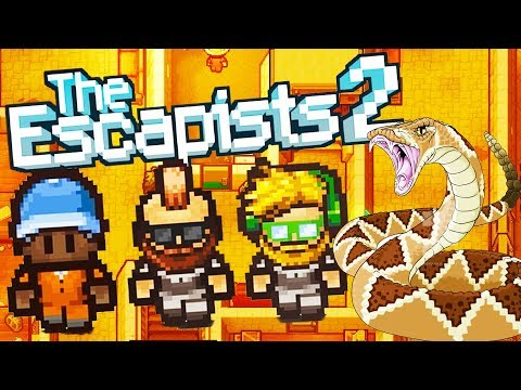 The Cowboy Prisoners Escape Rattlesnake Springs! - The Escapists 2 Gameplay Preview - Multiplayer