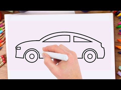 How to Draw  Car Easily Learn Drawing a Car Very Easy and Step by Step for Kids