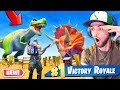 FINDING NEW Season 5 DINOSAURS In Fortnite Battle Royale mp3