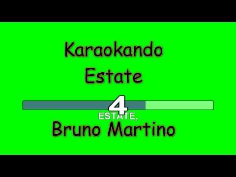 Karaoke Italiano - Estate - Bruno Martino ( Testo )