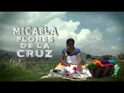 2019 Año Internacional de las Lenguas Indígenas- Bordado punto de cruz, Micaela Flores de la Cruz