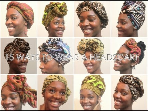 How To 15 Ways To Wear A Headscarf Youtube