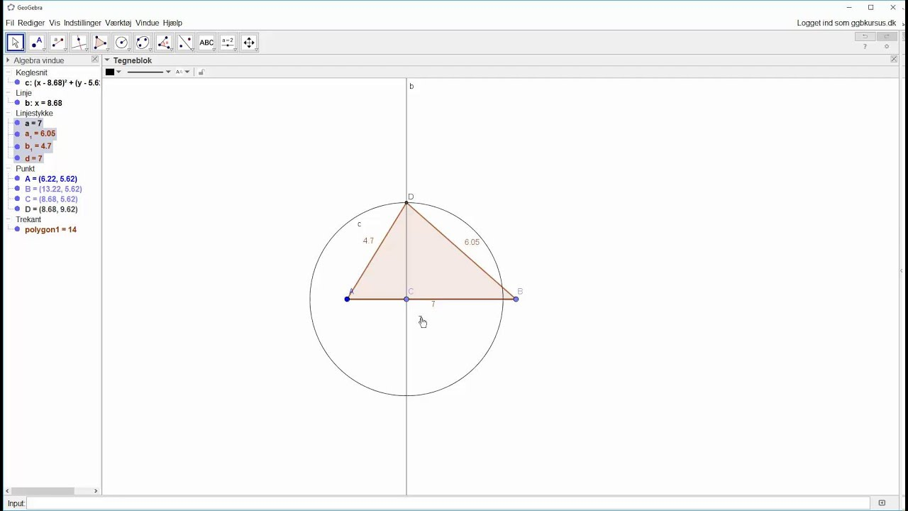 Opstartsøvelse - Opstartsøvelse - Konstruer en trekant