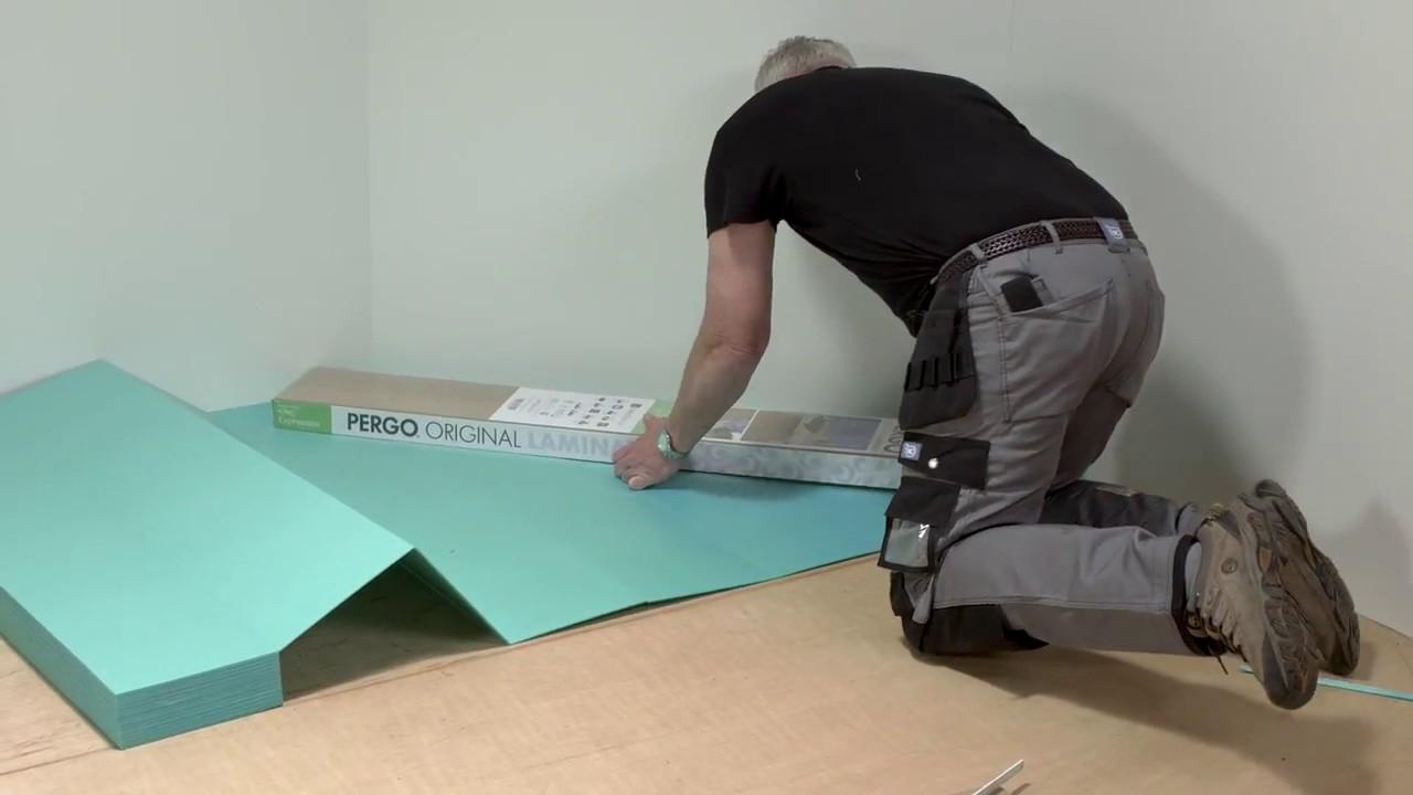 Pergo posa pavimento in laminato come posare underlay for Posare laminato su pavimento esistente