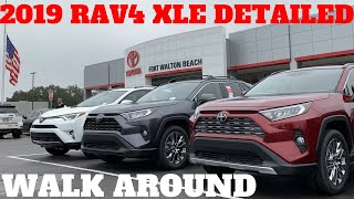 2019 RAV4 XLE PREMIUM DETAILED WALK AROUND / REVIEW | 2019 TOYOTA RAV4 PREMIUM
