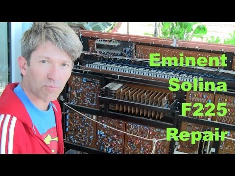 MF#25 Eminent Solina F225 vintage Organ Repair and Service