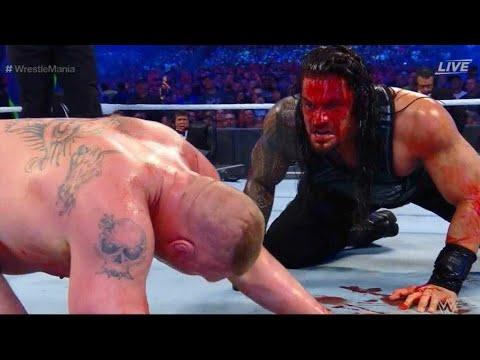 Roman Reigns Vs Brock Lesnar- WWE WrestleMania 34 & WWE Greatest Royal Rumble 2018 thumbnail