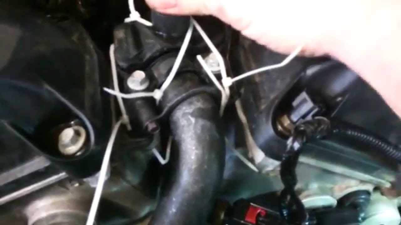 small resolution of coolant housing assembly replacement outlet 2006 dodge magnum 2 7l v6 upper youtube