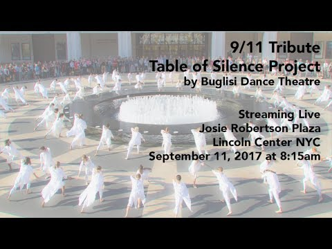 LIVESTREAM 9/11 Tribute Table of Silence Project at Lincoln Center - 2017