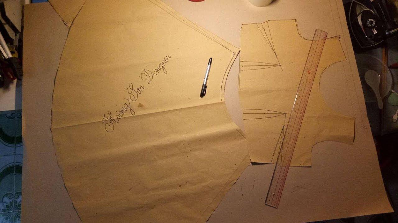 dạy cắt may cơ bản: hướng dẫn cách cắt váy xòe liền thân cơ bản| váy xòe liền thân