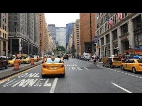 Driving Downtown - Park Avenue - New York City NY USA