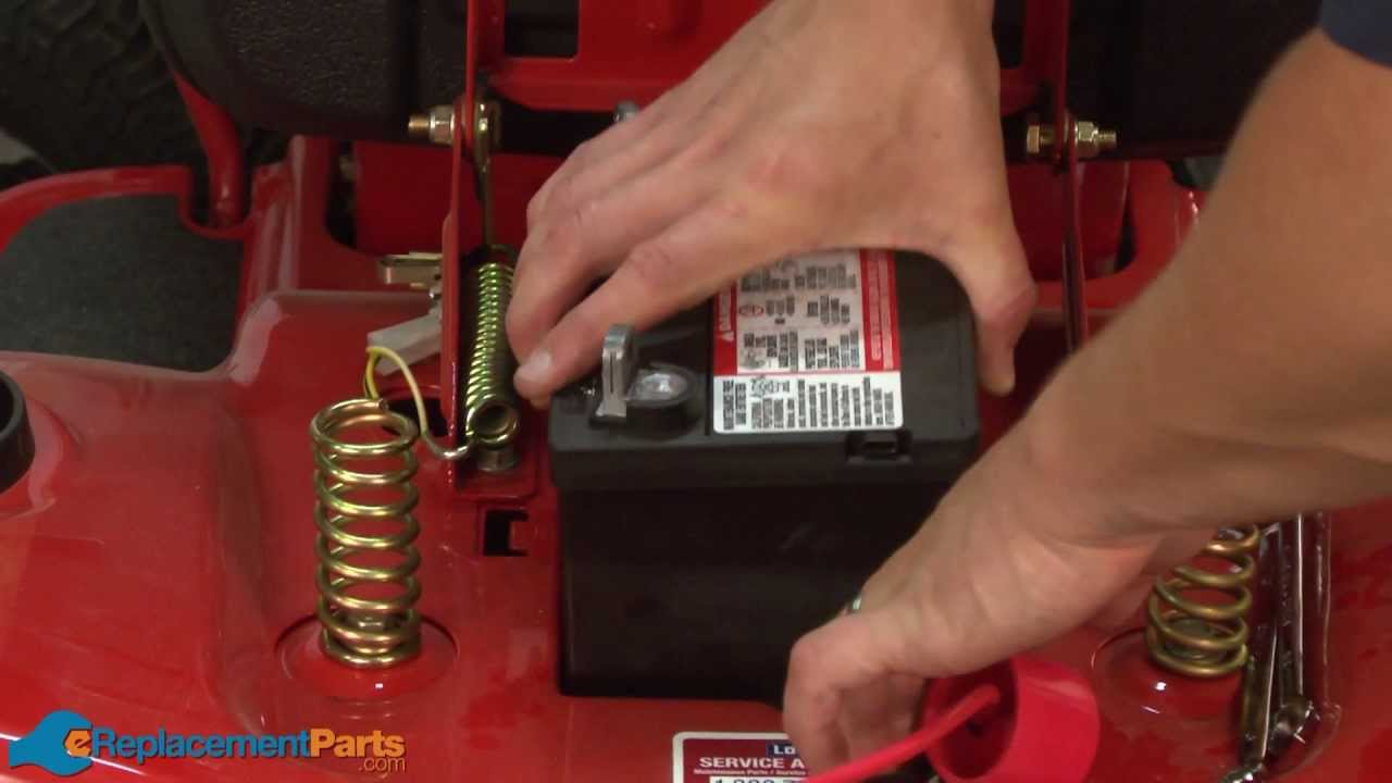 How to Charge Your Lawn Tractor's Battery  YouTube