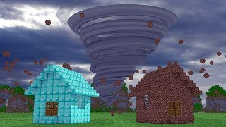 Minecraft: CASA DE DIAMANTE VS CASA DE TERRA - CASA SEGURA ‹ PORTUGAPC ›