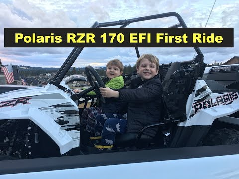 Polaris RZR 170 First Ride and Break in with the kids