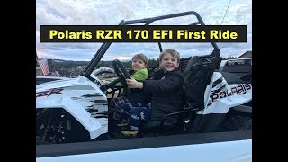Polaris RZR 170 First Ride and Break in with kids youth UTV Side by Side