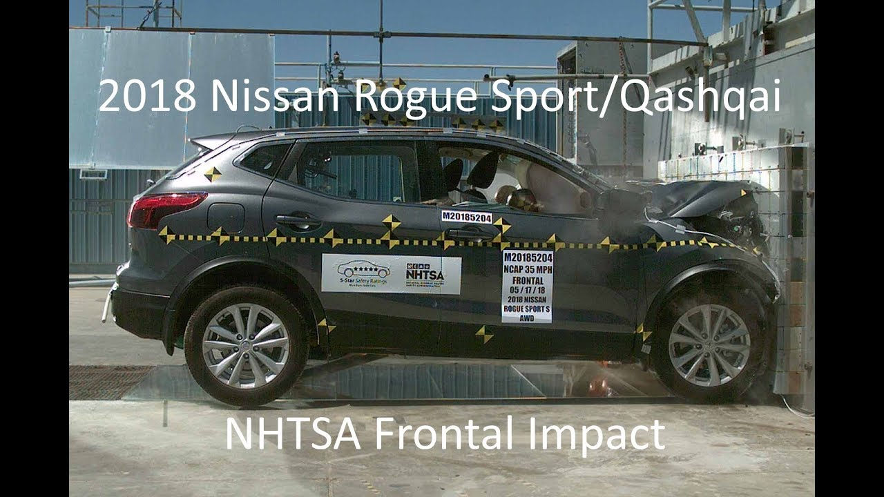 Nissan Rogue Safety Rating >> 2018 2020 Nissan Rogue Sport Qashqai Nhtsa Frontal Impact