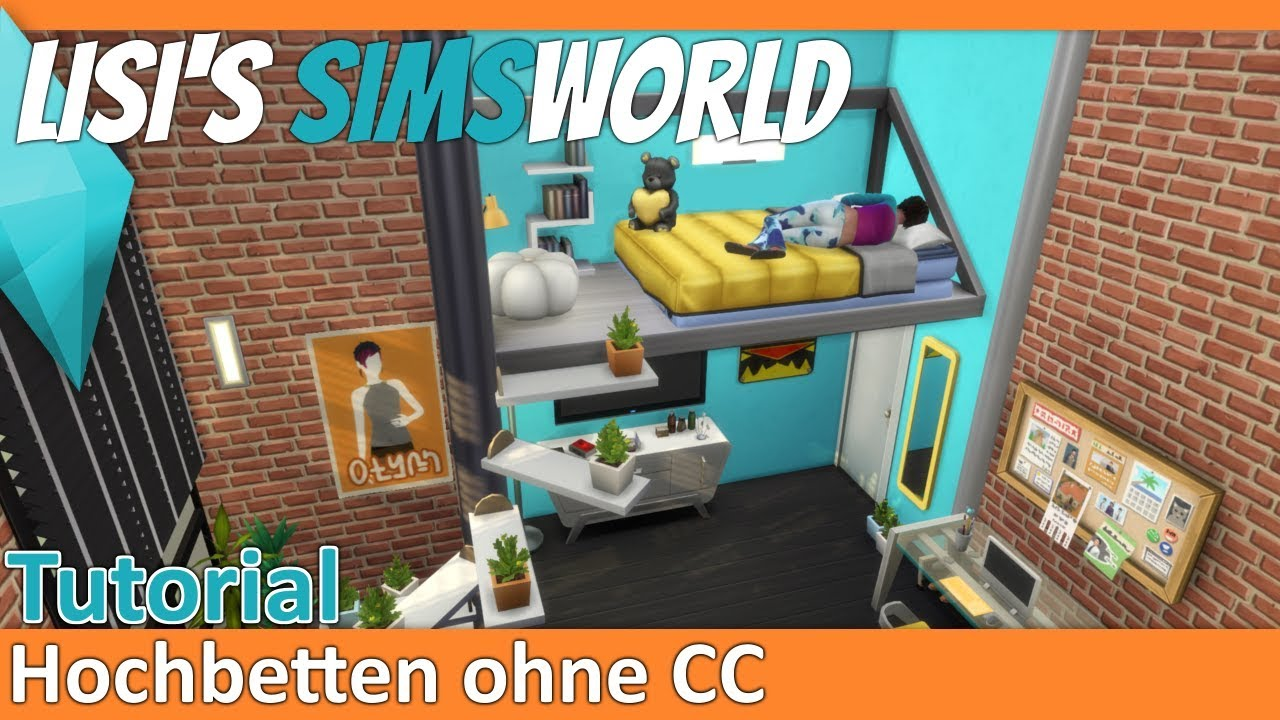 Etagenbett Sims 4 : Sims 4 hochbetten bunk beds tutorial ohne cc youtube