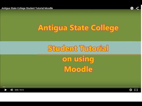 Antigua State College Student Tutorial Moodle