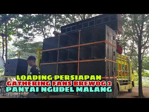 PERSIAPAN CEK SOUND GATHERING FANS BREWOG 2 DI PANTAI NGUDEL MALANG