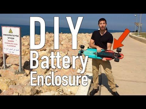 DIY electric skateboard enclosure for battery/ESC