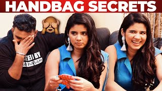 Actress Soundariya Nanjundan's Handbag Secrets Revealed By VJ Ashiq | What's Inside The Handbag?