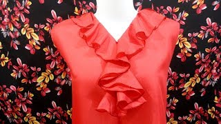 How to sewing a woman dress with spiral neck design