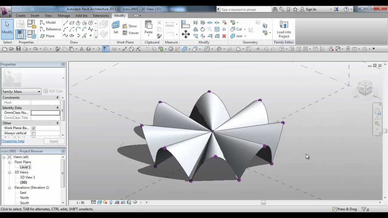 how to start draw a site in revit