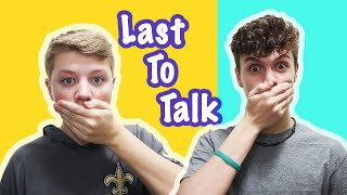 LAST To TALK Wins | No Talking for 24 HOURS CHALLENGE