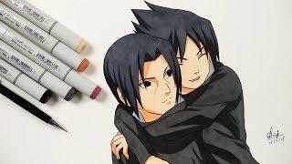 Drawing Sasuke And Itachi - Naruto Shippuden