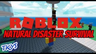 Roblox - Natural Disaster Survival (Avec Popper, Hoops et Pingu)